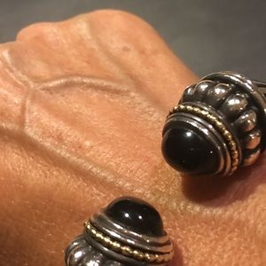 Jewelry - Lagos silver with black onyx cuff